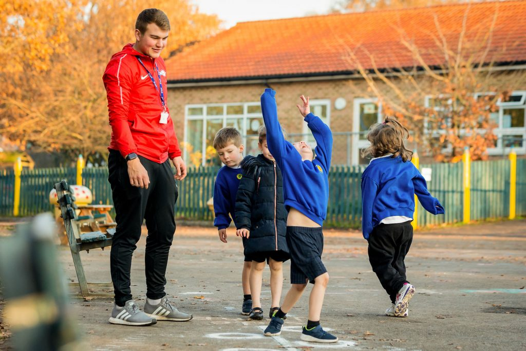 PlaySport - children having fun during a primary school pe lesson