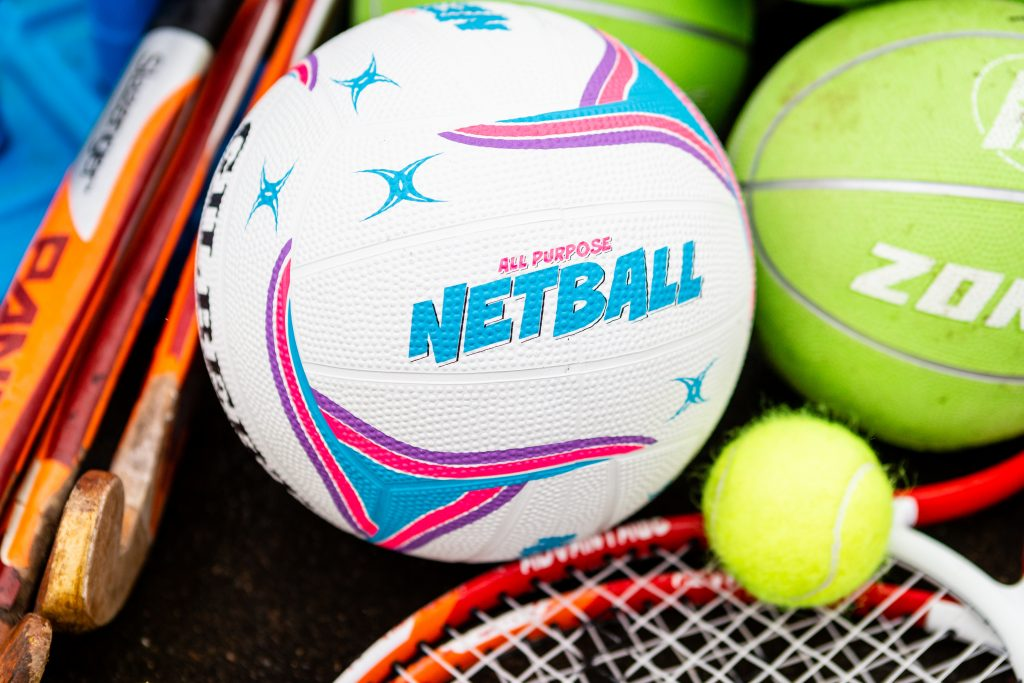 PlaySport - Netball, Tennis Ball, Hockey Stick and Cricket Stumps